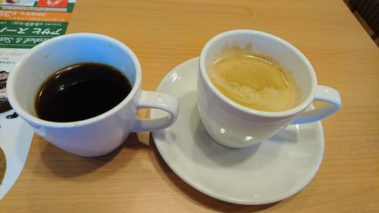 ドリップコーヒーと泡立ち式コーヒー