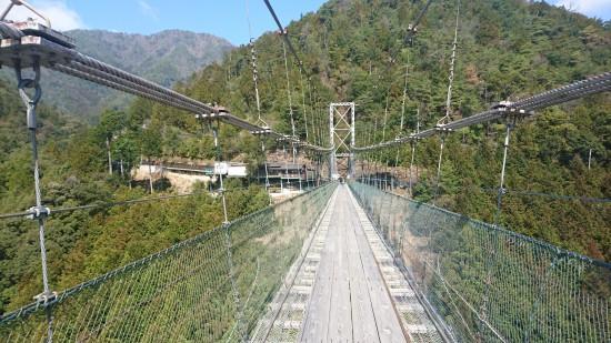 谷瀬の吊り橋序盤戦