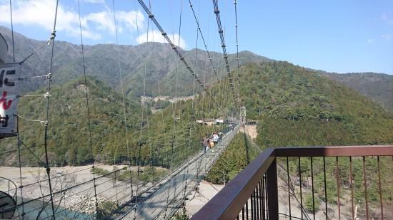 谷瀬の吊り橋復路