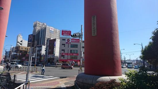 赤鳥居の柱