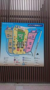 岡崎SA全体地図