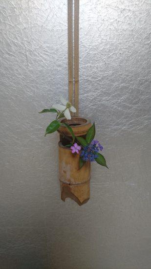 お茶席の花