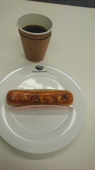 ピエールマルコリーニのコーヒーとエクレア