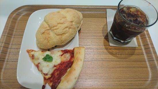 デリフランス ピザセットと塩メロンパン