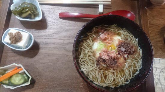 soba cafe 日本の暮らし とろろ蕎麦(温)