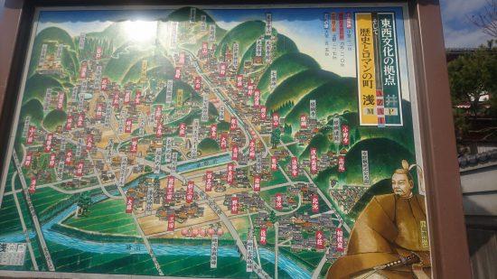 浅井の地図