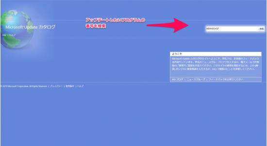 カタログ windows update